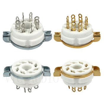 10PCS Ceramic 8PIN Tube Socket K8A GZC8-1Tube Holder For KT88 6SN7 EL34 6L6 GZ34 5881 Vacuum Tube Amplifier DIY image