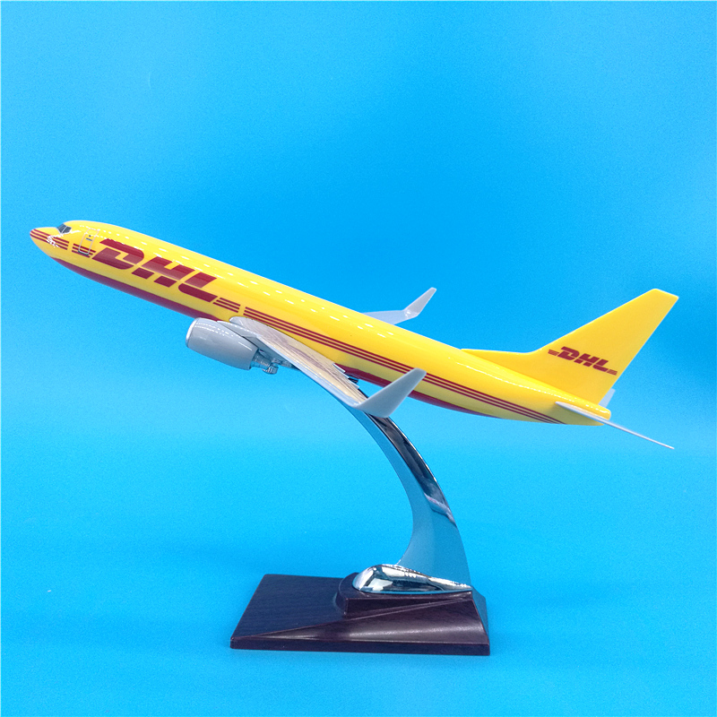 30CM 1:250 scale Airplanes Boeing B737 model DHL Express delivery airline Resin Diecast aircraft plane collectible display image