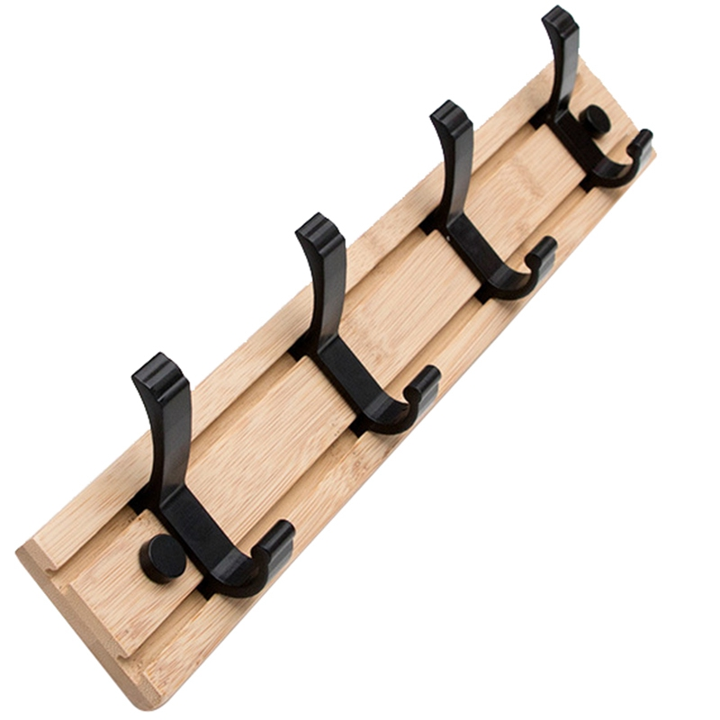 HLZS-Nordic Style Bedroom Coat Rack Clothes Hanger Hooks Closet Wooden Hat Racks Coat Hanger Wall Hook Multi-Function Storage Ho