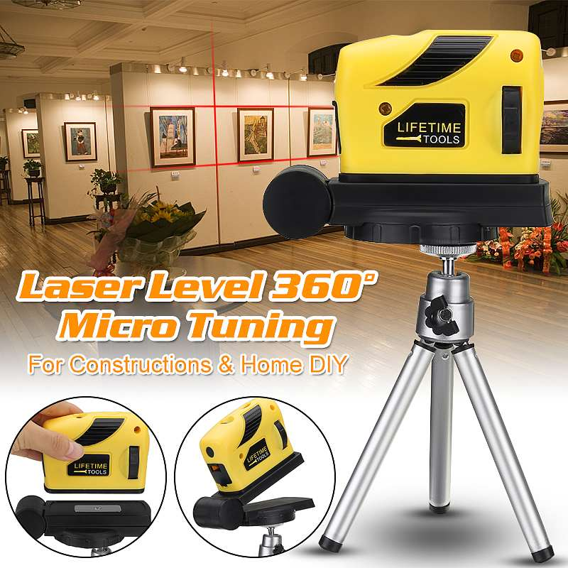 Professionelle 4 IN 1 Laser Level 2 Linien 3D Selbst Nivellierung 360 Horizontale Und Vertikale Kreuz Super Leistungsstarke Rot laser Strahl Linie