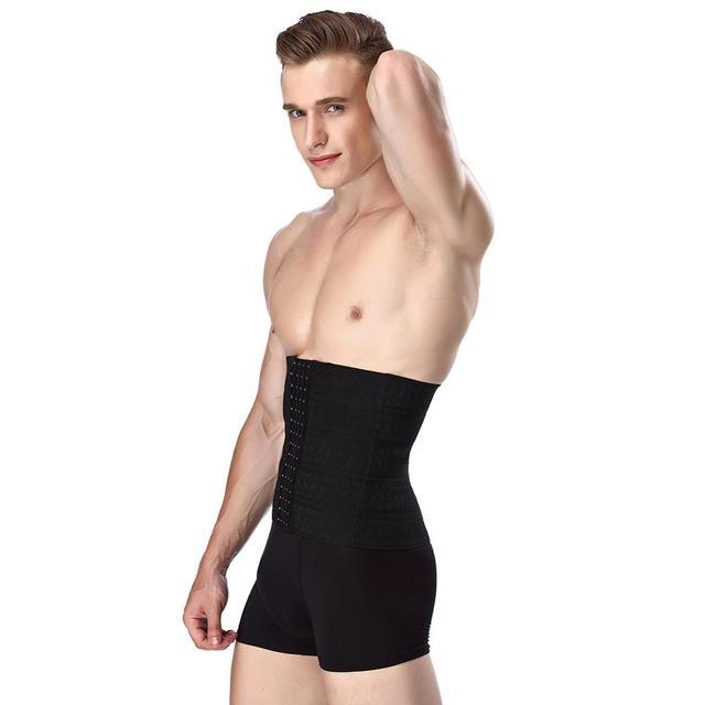 Men Body Shaper Waist Trainer Tummy Control Belt Sauna Slimming Strap Fitness Sweat Shapewear for Fat Burner 1