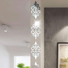 10pcs Self-adhesive Tiles 3D Mirror Wall Stickers Decal Home Decor Poster