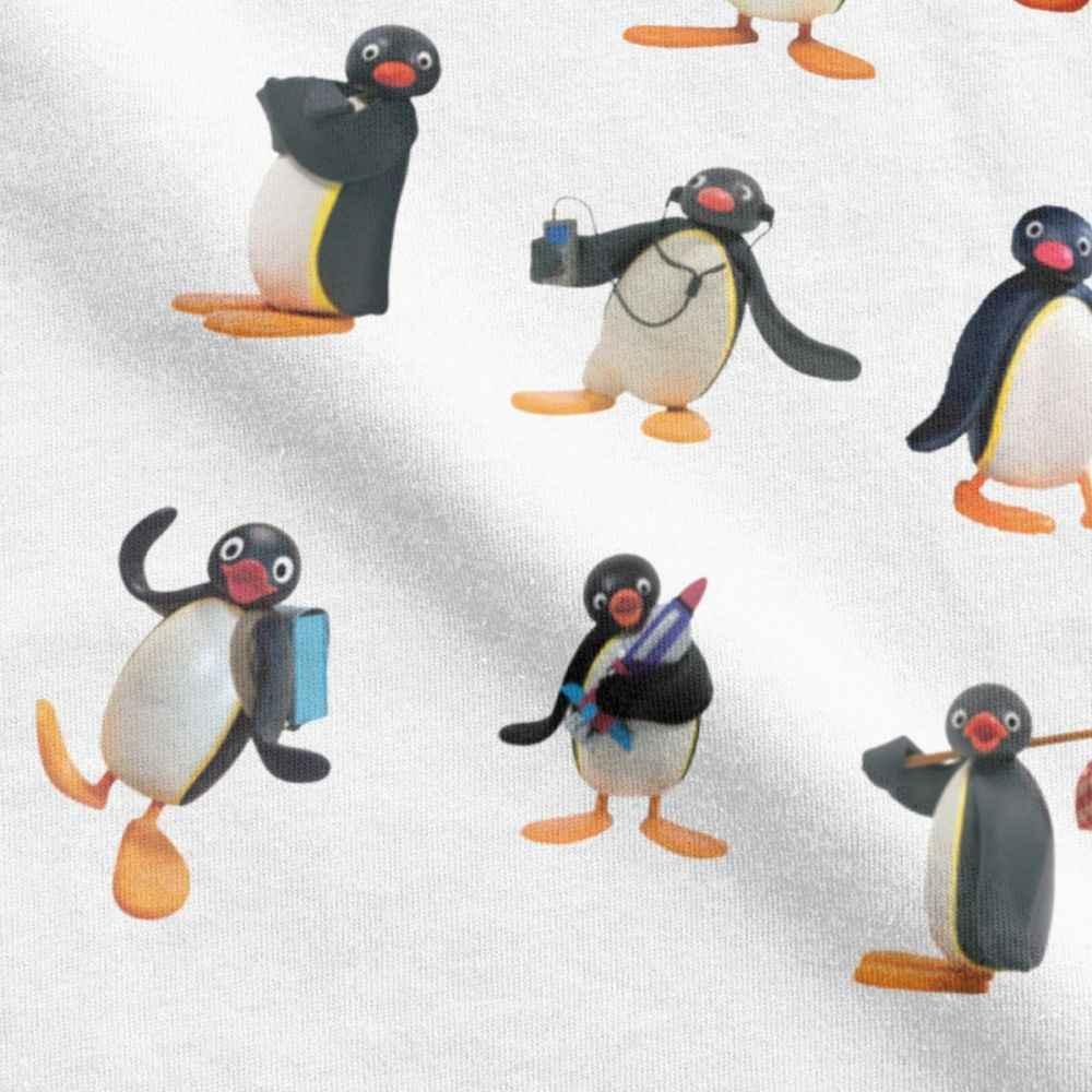 Pingu Stimmung T Shirts Männer 100 Premium Baumwolle T-Shirt Pinguin Cartoon Meme Kinder 80s 90s Retro Niedliche T-shirt sweatshirt Europa
