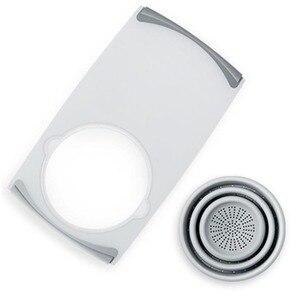 Image 5 - 3 в 1 многофункциональное измельчение продуктов Съемная Складная Силиконовая корзина для слива овощей Антибактериальный кухонный инструмент для резки