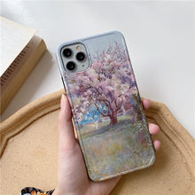 Case for Japanese Girl Sakura Flower Art Student iPhone 7 Plus Cases Case for 8 plus 11 for women Apple Phone Xr Phone Pouches(China)