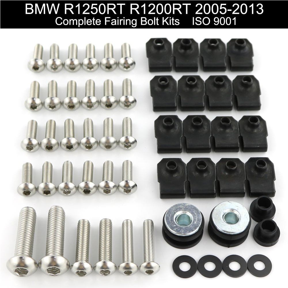 For BMW R1250RT R1200RT 2005-2013 2006 2007 2008 2009 2010 2011 2012 Complete Full Fairing Bolts Kit Motorcycle Stainless Steel