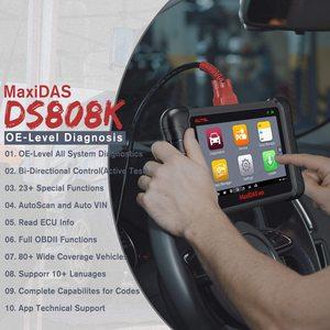 Image 4 - Сканер Autel Maxidas DS808K OBD2, автомобильный диагностический инструмент, функции сканера EPB/DPF/SAS/TMPS лучше, чем Launch X431