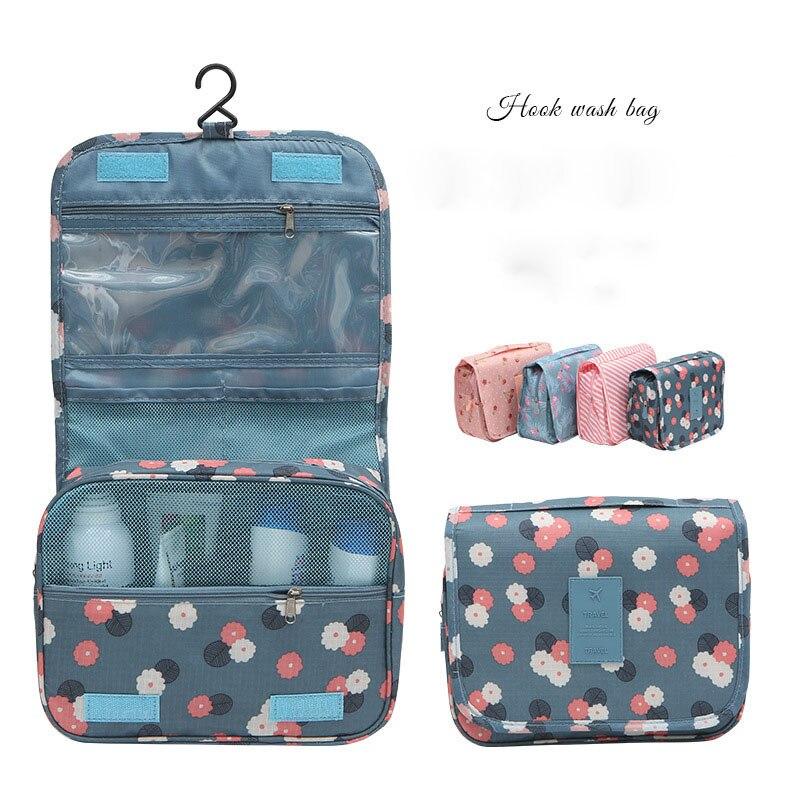 Fashion Travel Cosmetic Bag Women Organizer Portable Folding Multifunction Wash Bag Large Capacity Hanging Type Make Up Bag