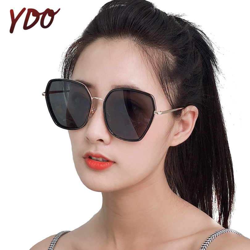 YDO Polarized Sunglasses Women Square UV400 Vintage Oversized Luxury Glasses Female Retro Fashion Designer Large