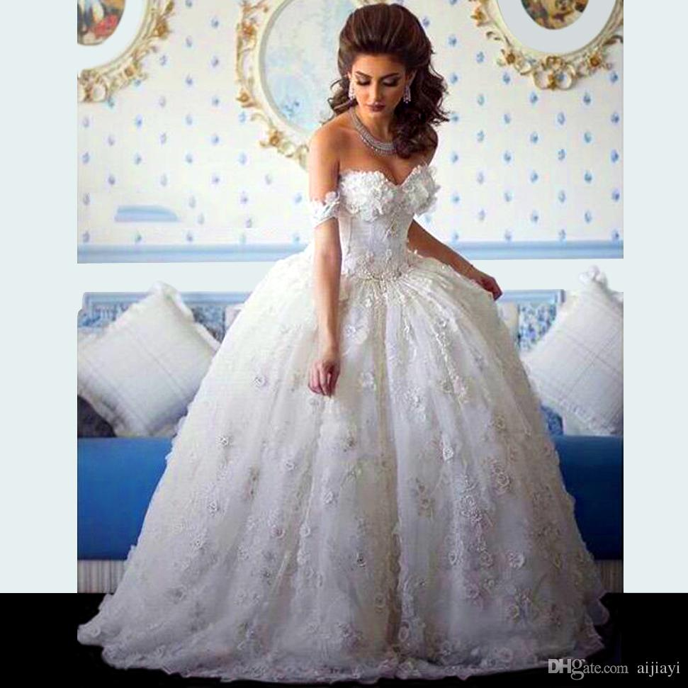 Hot Sale 2018 Robe De Mariee Sweetheart Appliqued Beaded Sleeveless Flowers Princess Bridal Gown Mother Of The Bride Dresses