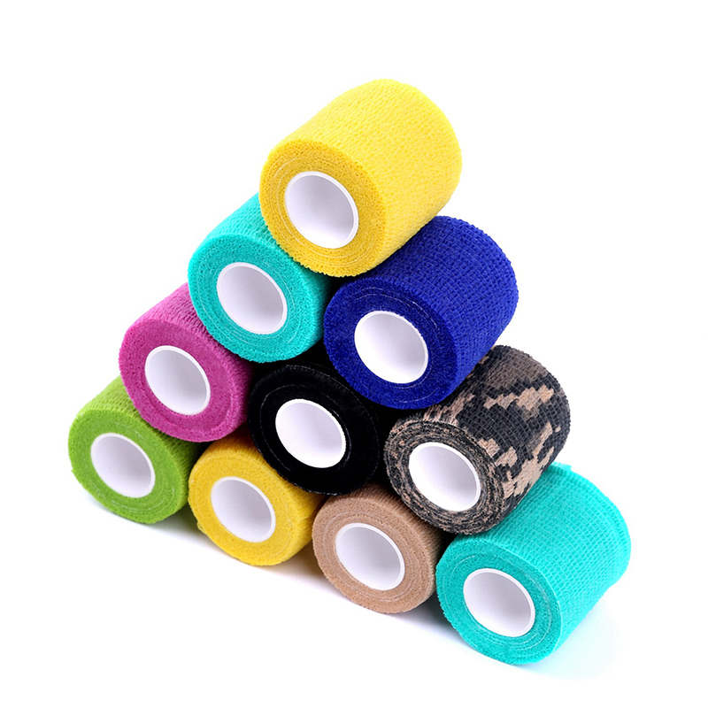 10pcs Waterproof Security Protection Self-adhesive Cohesive Bandage Elastic Wrap First Aid Sports Body Gauze Vet Medical Tape
