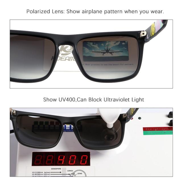 Fashion Guy's Sun Glasses From KDEAM Polarized Sunglasses Men Classic Design All-Fit Mirror Sunglass With Brand Box CE 8