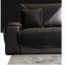 Simple Multi color Sofa Cover for Leather Sofa Special Cushion Non Slip Full Package Solid Color