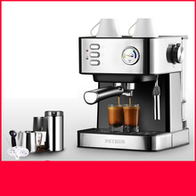 Semi-automatic Coffee Machine Espresso Italian Steamed Household and Commercial Small Steaming Foam Visual Thermometer