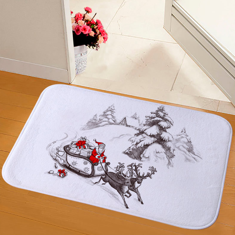 Wear Resistant Floor Mat Christmas Bedroom Water Absorb Dining Room Carpet Soft Non Slip Bathroom Anti Fade Home Printing Rug