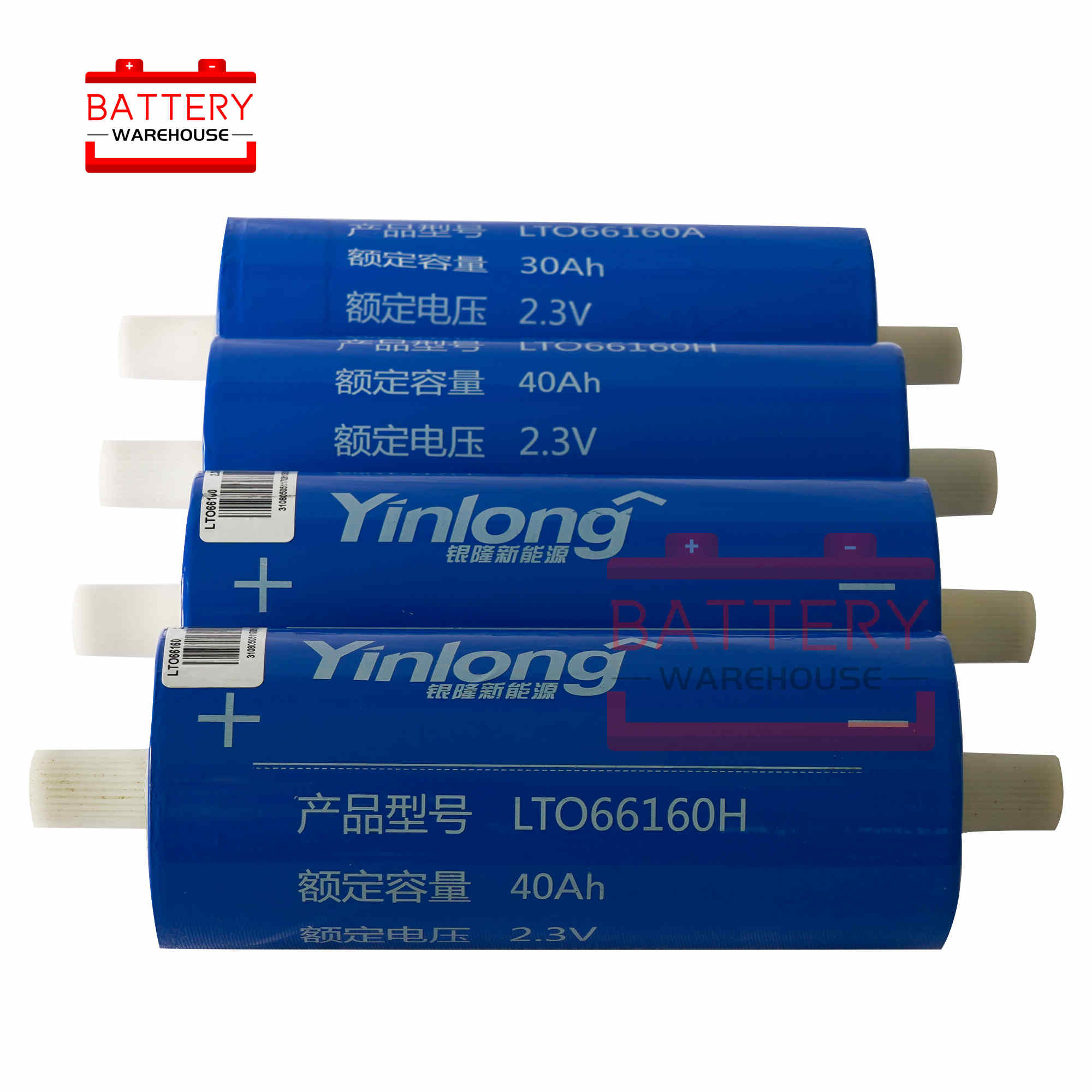 2.3v 40Ah LTO <font><b>66160</b></font> Lithium Titanate Battery Cell new 2.4v 66160H 10C 400A for Diy Pack 12v 14.4v Power Long Cycle Life Stocks image