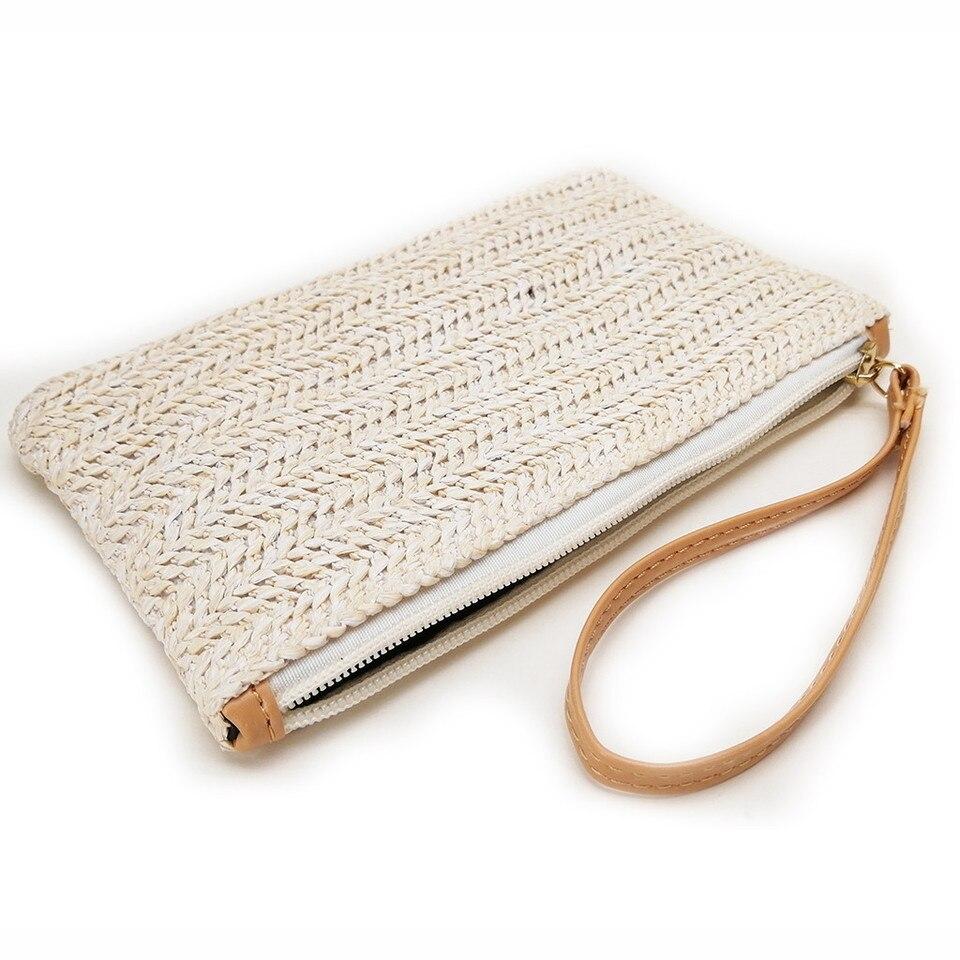 Ladies Women Fashion Summer Style Single Shoulder Bucket Shape Solid Weaving Bag