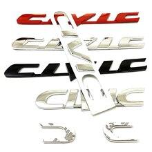 Серебряный черный, красный ABS 3D наклейка на кузов автомобиля задний бампер багажник письмо эмблемы Логотип маркировки наклейка для Honda Civic С...