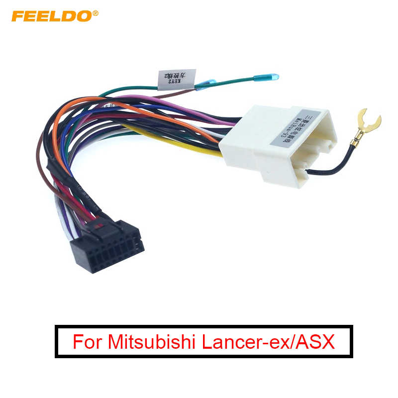 Feeldo 1Pc Auto Stereo Radio 16PIN Adapter Power Kabel Voor Mitsubishi Outlander Xperden/Mirage Audio 16Pin Kabelboom