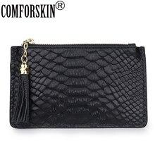 Key Wallet Purse Key-Holder Multi-Function Cowhide Mini Genuine-Leather Women COMFORSKIN