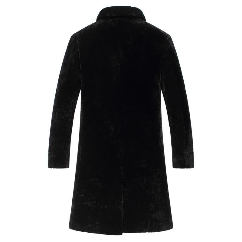 Natural Sheep Shearling Fur Coat Warm Winter Jacket Men Natural Wool Fur Coats Men Clothes Winterjas Heren T16202 MY790