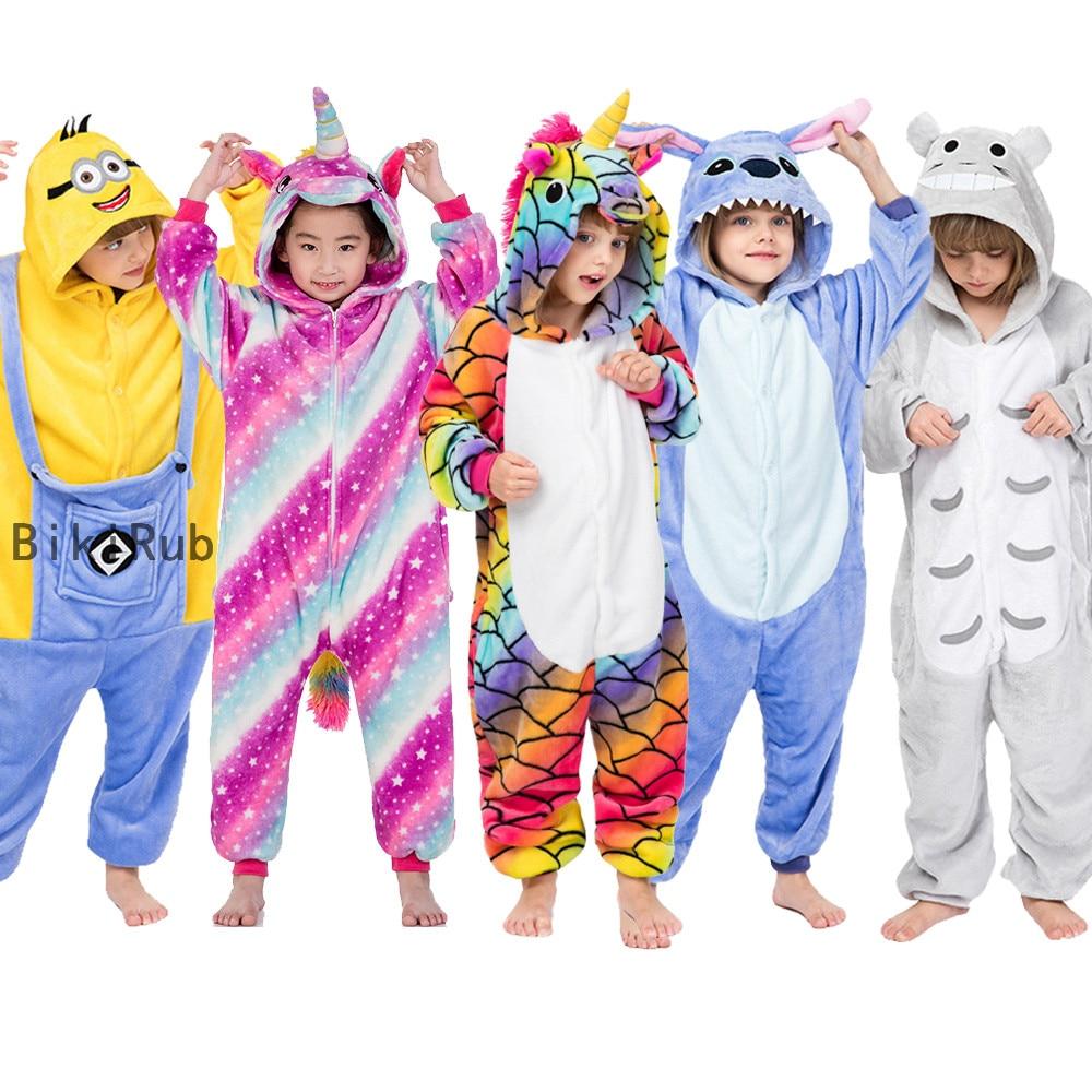 Kids Boys Girls Pajamas Hoodie Sleepwear Nightwear Unisex Animal Cosplay Costume