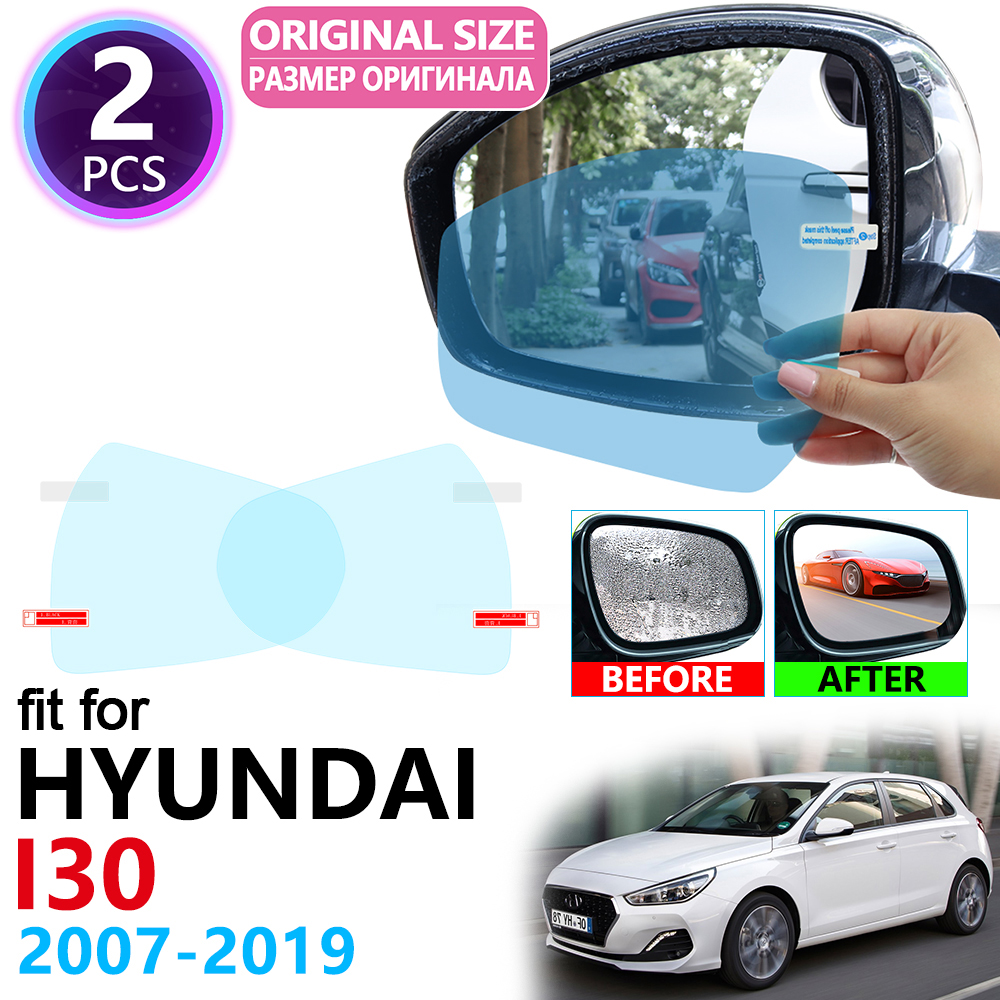 for Hyundai <font><b>i30</b></font> Elantra GT Touring 2007~2019 Full Cover Rearview Mirror Rainproof Anti Fog Film Accessories 2008 2011 2015 <font><b>2017</b></font> image
