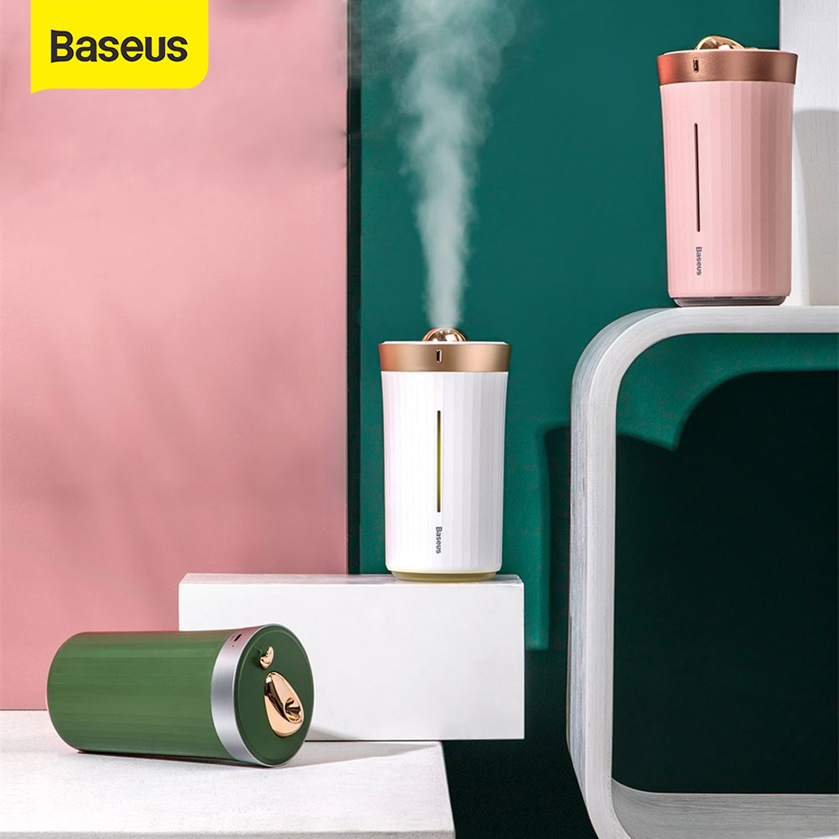 Baseus 420ml Ultrasonic Air Humidifier USB LED Diffuser For Home Car USB Humidifier Mist Maker With LED Night Lamp Air Clean