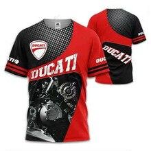 Ducati logo camiseta camisola de manga curta topo em torno do pescoço de alta qualidade masculino oversized secagem rápida topo esportes verão 2021 novo