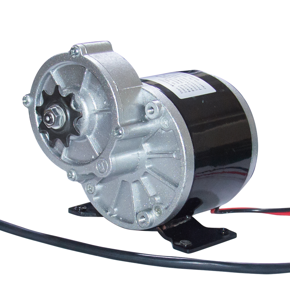 MY1016Z3 DC Scooter Motor 24V 36V Brushed Gear Motor 350W High 380Rpm with Sprocket 9 Teeth Pitch 12.7mm for Electric Bike