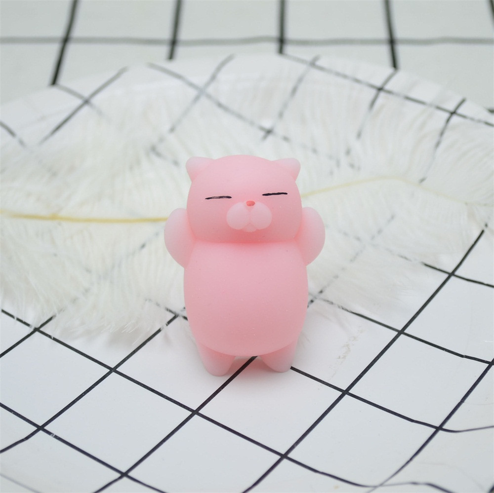 Toys For Children Cute Mochi Squishy Cat Squeeze Healing Fun Kids Kawaii Toy Stress Reliever Decor Kids Toys Juguetes Para Ninos
