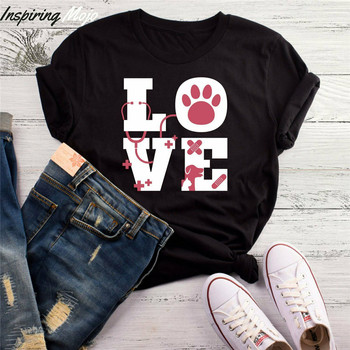 Love Animals Vet Tech T-Shirt Vet Tech Shirt Veterinarian Tee Shirt Vet Physi Style Round Tee Shirt