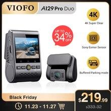 VIOFO Cámara de salpicadero Dual A129 Pro Duo 4K, DVR 2020, 4k, modo de estacionamiento GPS, sensor Sony, WIFI, 4K, DVR
