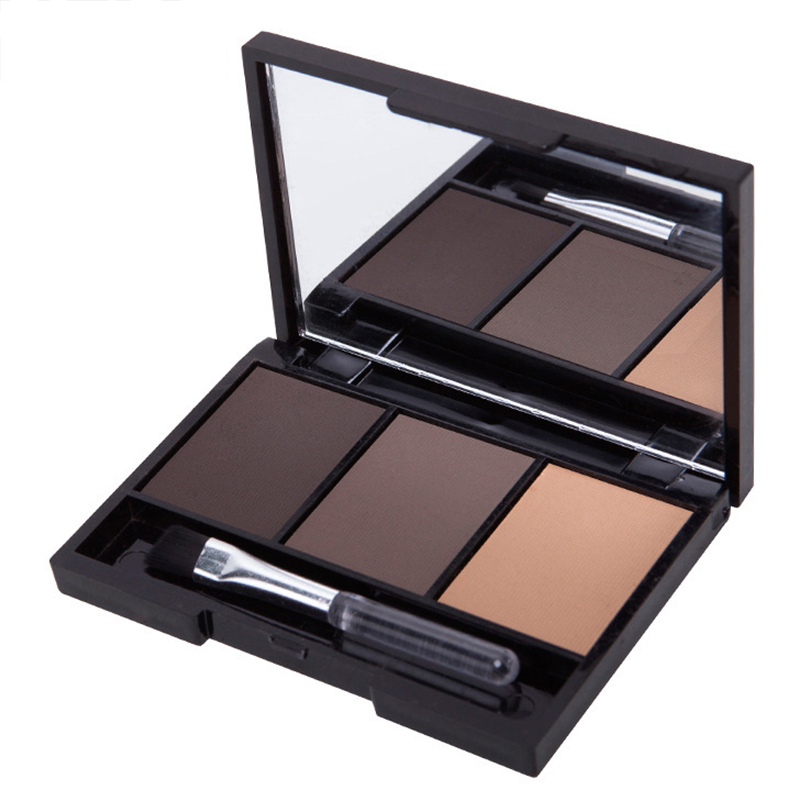 New Eyebrow Powder Palette 3 Colors Long Lasting Cosmetic Makeup For Women Lady SCI88