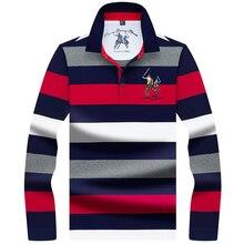 2019 new polos Spring Autumn Long Sleeve Mens Polo Shirt High quality brand stripe shirt polo men Business casual