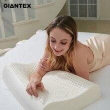 GIANTEX poduszka lateksowa poduszki do masażu do spania poduszka ortopedyczna kussens Oreiller Almohada poduszka do szyjki macicy poduszka odkształcająca się