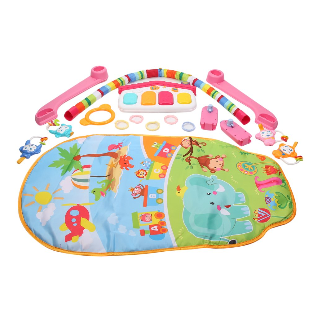 Baby Play Mat Rug Toys Kid's Crawling Music Play Game Developing Mat Pad With Keyboard Infant Carpet Education Rack Toy