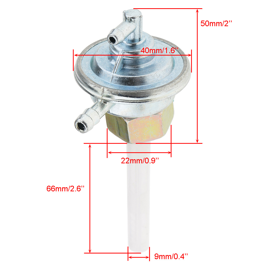 Gas Fuel Switch Pump Valve Petcock for GY6 50cc 150cc Go Kart Moped Corrosion Resistant
