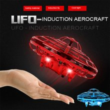Mini UFO Drone Gesture control Helicopter RC Quadcopter Sensing and Lights Indoo