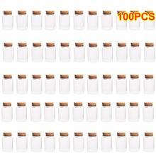 100 шт. 47*70 мм 80 мл пустые стеклянные бутылки банки с корковые пробки для рукоделия декоративный Контейнер Прямая поставка