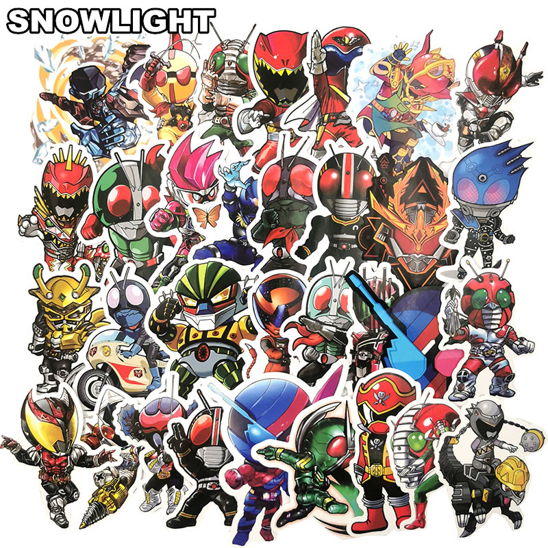 50Pcs Japanese Anime Movie Kamen Rider Sticker For Skateboard Guitar Motorcycle Luggage Computer Toy Sticker