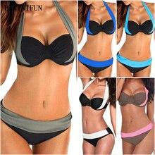 купить New Sexy Bikini Women Swimwear Low Waist Swimsuit Plus Size Bathing Suit Girl Push Up Brazilian Beachwear Bikini Set S-3XL дешево