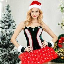 2019 Women Christmas  Sexy Lingerie Seduction Plush Babydoll Costumes Uniform Cosplay Sex Temptation Roleplay Teasing