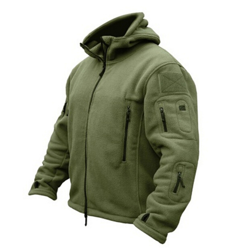 Bigweety <font><b>Winter</b></font> <font><b>Military</b></font> Tactical Fleece <font><b>Jacket</b></font> Men Warm Polar Army Clothes Multiple Pocket Outerwear Casual Thermal Hoodie Coat image