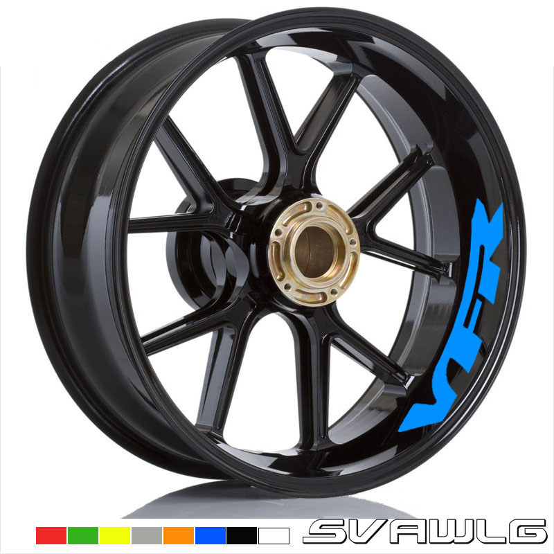 Hot sell 30 Style Motorcycle Wheel Tire Rim Stickers wheel For Honda VFR VFR750 VFR800 <font><b>VFR1200</b></font> VFR1200F image