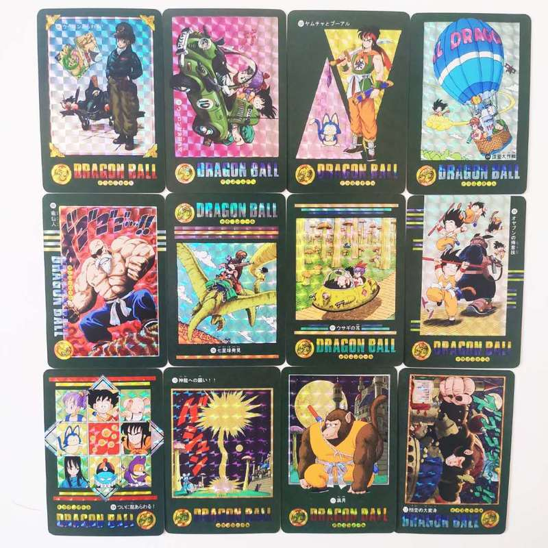 54pcs/set Dragon Ball Z Adventure Chapter Wind And Cloud Super Saiyan Goku Vegeta Game Collection Cards Limit Free Shipping