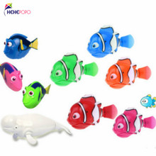 10 Pcs / Lot Fish Toy Include 2 White Dolphin Swimming Electronic Pet