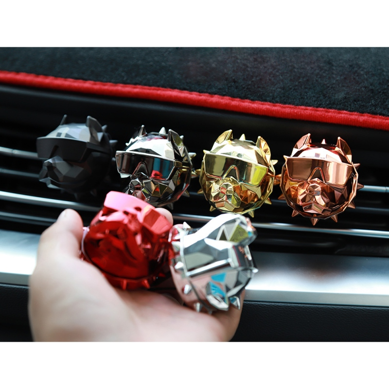 Creative Bulldog Air Freshener Car Perfume Car Decoration Auto Clip Bulldog Fragrance Scent Parfum Voiture Car Diffuser