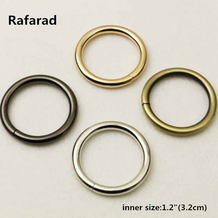 30 Pieces Metal Wire-formed O-rings Wholesale Diy Handbag Metal O Ring Handle Fashion Metal Hardware Ring Buckles Metal Handle