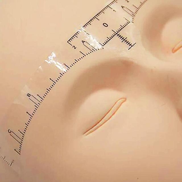 10pcs Eyebrow Stencil Microblading Tattoo Semi Permanent Stencil Template Model Makeup Measure 1